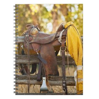 Saddle on fence spiral notebook