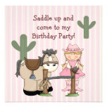 Saddle Up Birthday Party Invitation