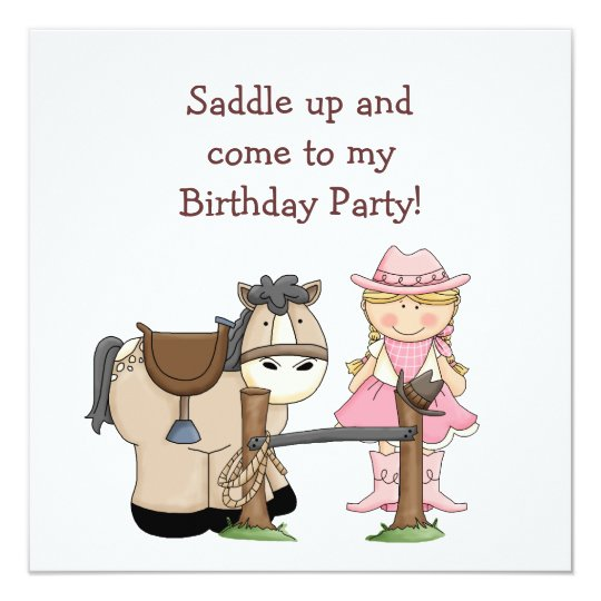 Saddle Up Birthday Party Invitation