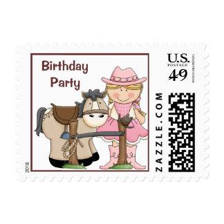 Saddle Up Birthday Party Postage