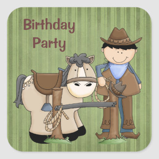 Saddle Up Birthday Party Stickers