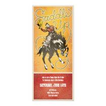 Saddle Up Cowboy Party Invitation