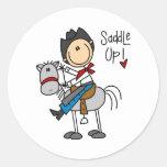 Saddle Up! Cowboy Stick Figure Sticker