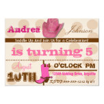 """Saddle Up Cowgirl Birthday Party Invites 5"""" X 7"""" Invitation Card"""