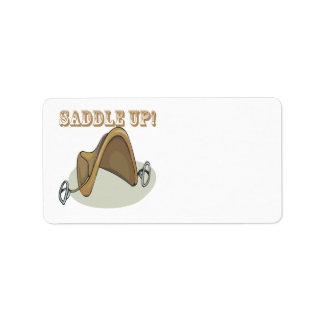 Saddle Up Personalized Address Label