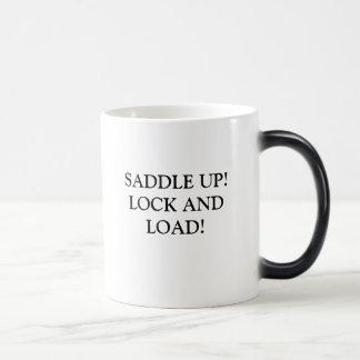 SADDLE UP! LOCK AND LOAD! MORPHING MUG