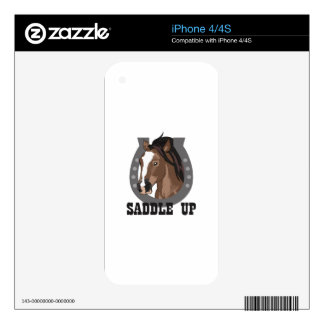 SADDLE UP DECAL FOR iPhone 4S