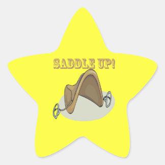Saddle Up Star Sticker