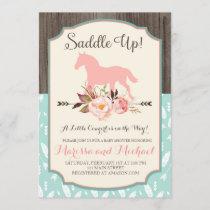 Saddle Up Western Baby Shower Invitations