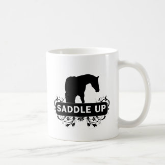 Saddle Up with Horse Silhouette Coffee Mug