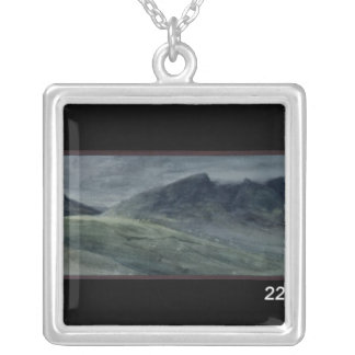 Saddleback and Part of Skiddaw Silver Plated Necklace