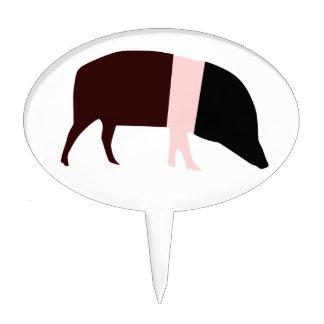 Saddleback Pig Cake Pick