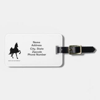 Saddlebred Address Tag Travel Bag Tags
