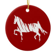 Saddlebred Art Christmas Ornaments