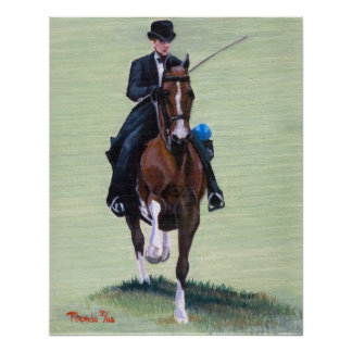 Saddlebred Elegance in Action Horse Portrait Poster