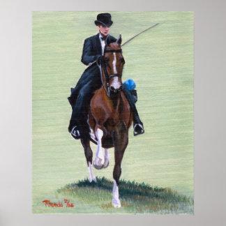 Saddlebred Elegance in Action Horse Portrait Poster