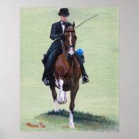 Saddlebred Elegance in Action Horse Portrait Print