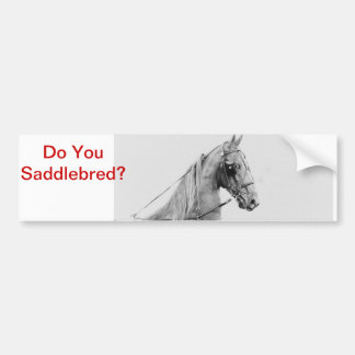 Saddlebred fine harness car bumper sticker