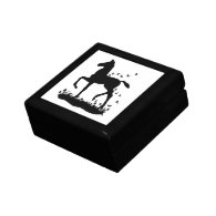 Saddlebred Foal Silhouette Butterflies Gift Box