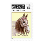 Saddlebred head, brown stamp