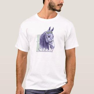 Saddlebred Head Study, Blue T-Shirt