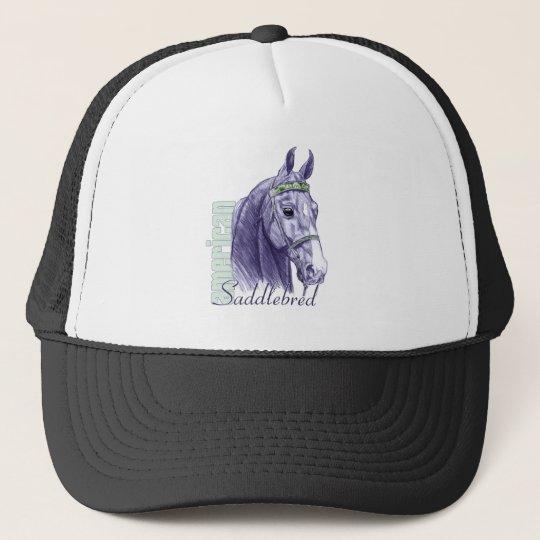 Saddlebred Head Study, Blue Trucker Hat