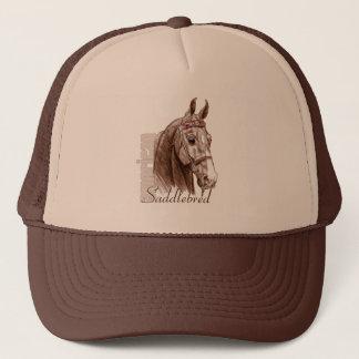 Saddlebred Head Study, Brown Trucker Hat