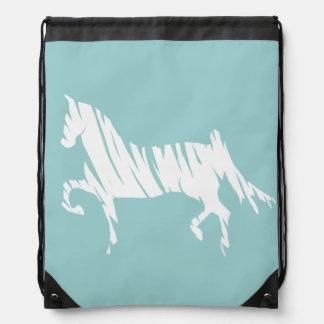 Saddlebred Horse Art Drawstring Backpack