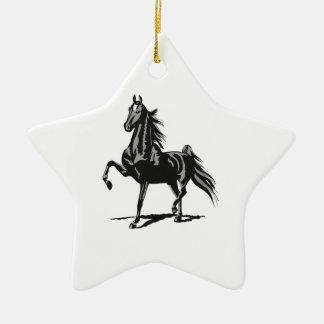 SADDLEBRED HORSE CERAMIC ORNAMENT