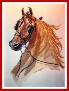saddlebred horse christmas card - Horse Christmas