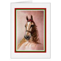 Saddlebred Horse Christmas Card