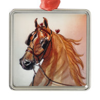 Saddlebred Horse Fine Harness Ornament