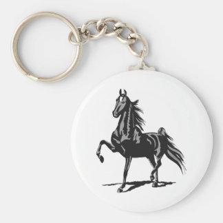 SADDLEBRED HORSE KEYCHAIN