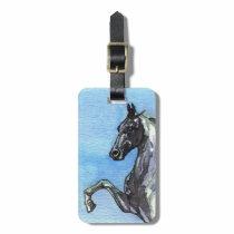 Saddlebred Horse Luggage Tag