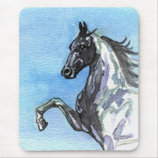 Saddlebred Horse Mousepad-Shades of Blue