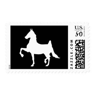 Saddlebred horse silhouette postage