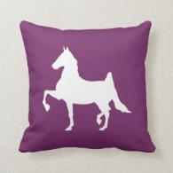 Saddlebred horse silhouette throw pillows