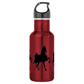 Saddlebred Horse Silhouette Water Bottle