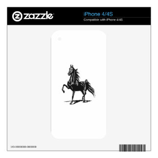 SADDLEBRED HORSE SKINS FOR iPhone 4