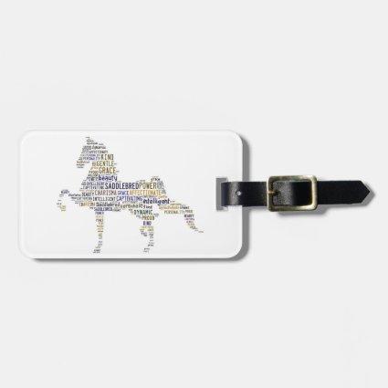 Saddlebred Luggage Tag