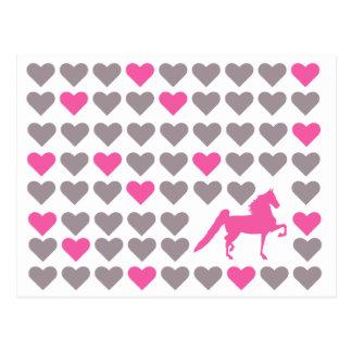 Saddlebred Postcard - American Saddlebred Love