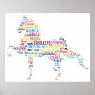 Saddlebred Poster