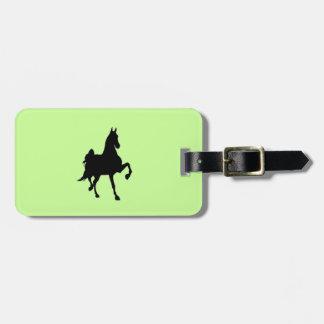 Saddlebred Silhouette Bag Tag