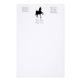 Saddlebred Silhouette Stationery
