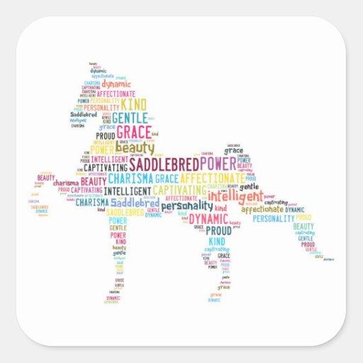 Saddlebred Sticker