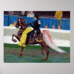 Saddlebred The Winning Pass Horse Portrait Poster