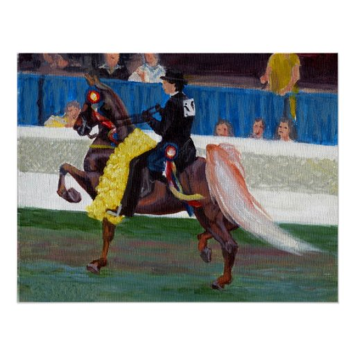 Saddlebred The Winning Pass Horse Portrait Posters