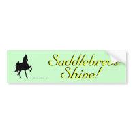 Saddlebreds Bumper Stickers