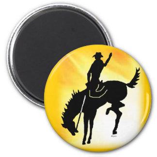 Saddlebronc 103 imán redondo 5 cm