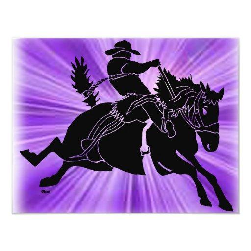 "Saddlebronc 201 4.25"" x 5.5"" invitation card"